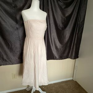 J. Crew Baby Pink Strapless Dress